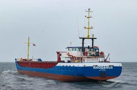 Ship Carrying 2,650 Tons of Steel Coils Goes Aground