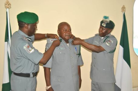 Seme Customs Decorates 33 Officers with New Ranks